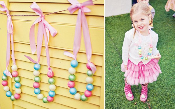 rainbow sweets birthday party sixlet necklace
