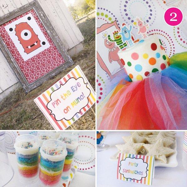 rainbow yo gabba gabba birthday party