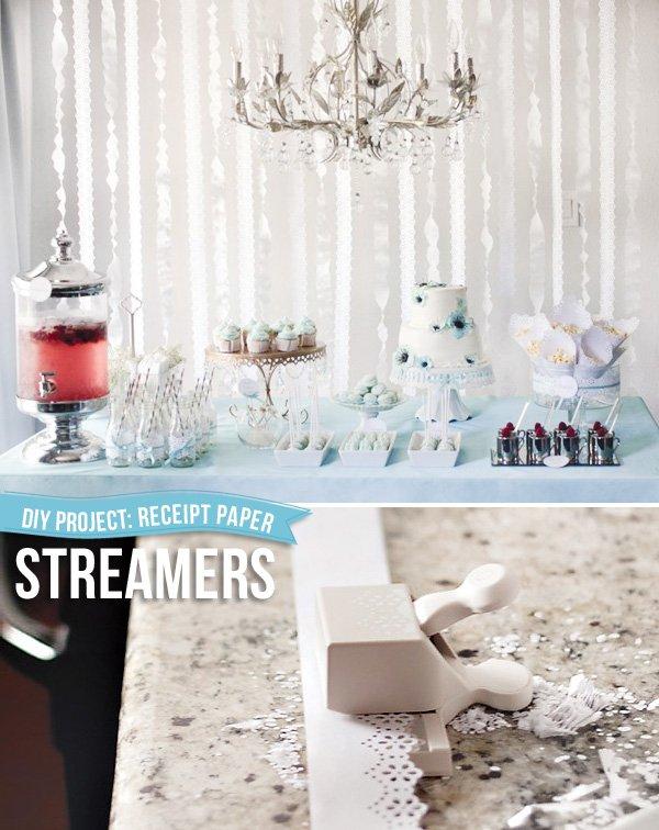 receipt paper streamers tutorial