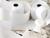 recepit paper streamers with martha stewart craft punch