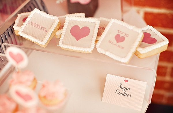 ribbons and ruffles baby shower cookies