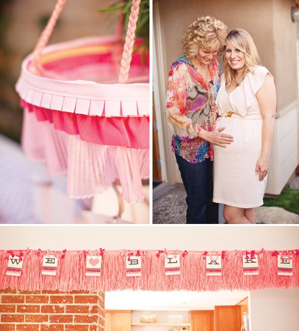 ribbons and ruffles baby shower decorations