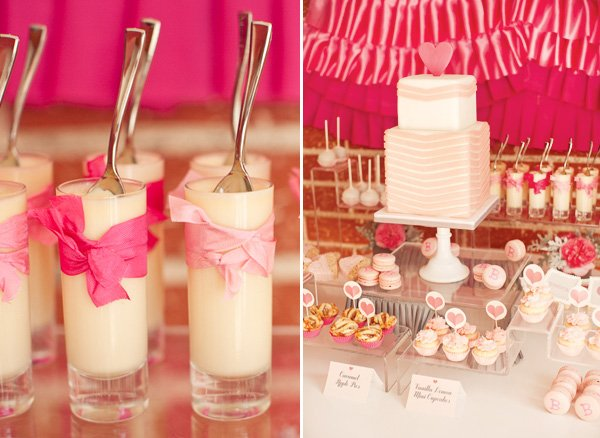 ribbons and ruffles baby shower dessert table