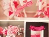 ribbons and ruffles baby shower flowers and straws