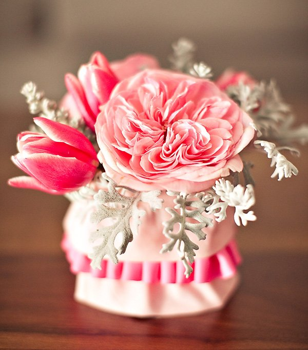 ribbons and ruffles baby shower flowers
