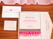 ribbons and ruffles baby shower invitations