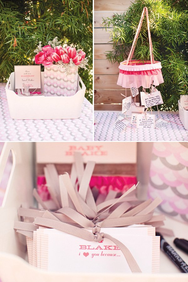 ribbons and ruffles baby shower wishes and notes