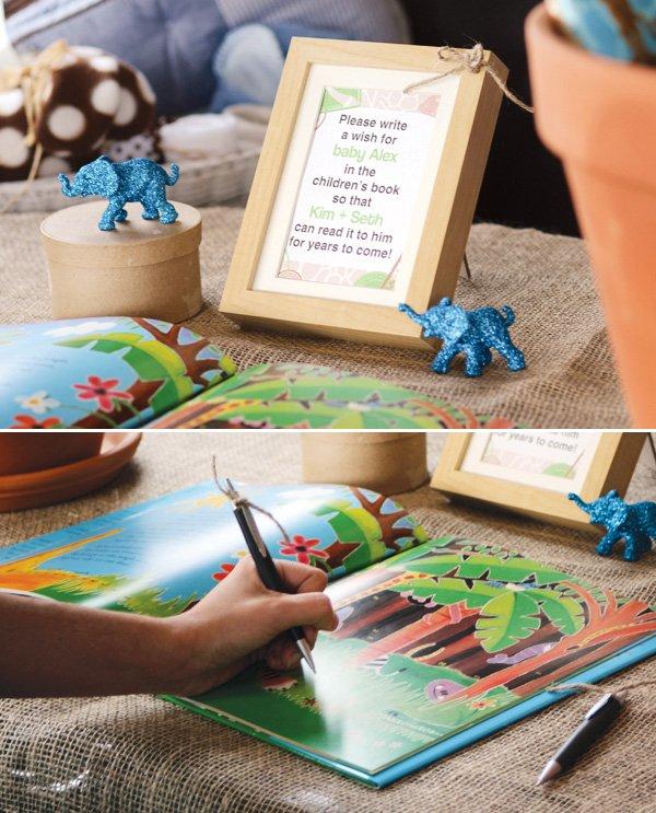 safari jungle baby shower guest book
