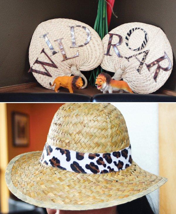 safari jungle baby shower hat
