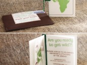 safari jungle baby shower with a passport invitation