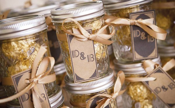 simple white wedding favors