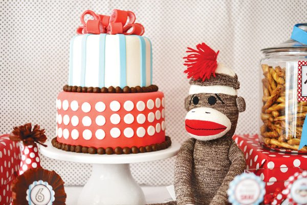 Wondrous Adorable Rustic Modern Sock Monkey Birthday Party Hostess Funny Birthday Cards Online Barepcheapnameinfo