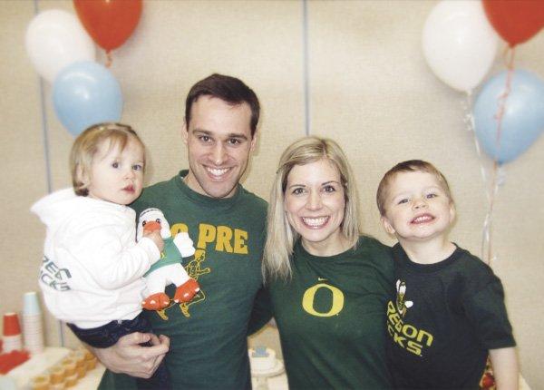 sports birthday family photo