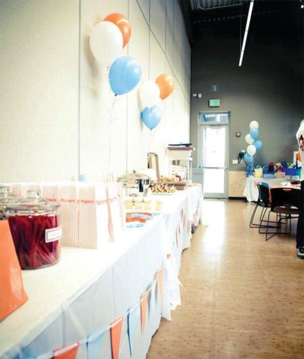 sports birthday food table