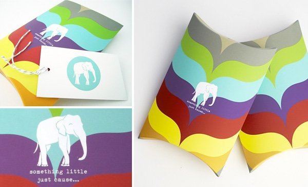 stylish gift boxes with a modern elephant design