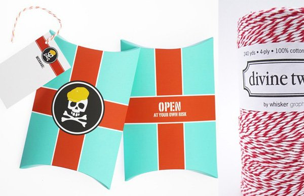 stylish gift boxes with a modern pirate design
