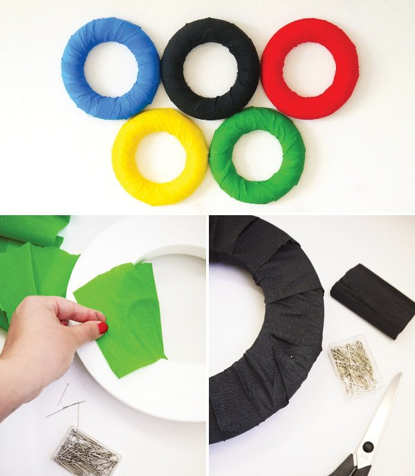 summer olympics party theme ring diy tutorial