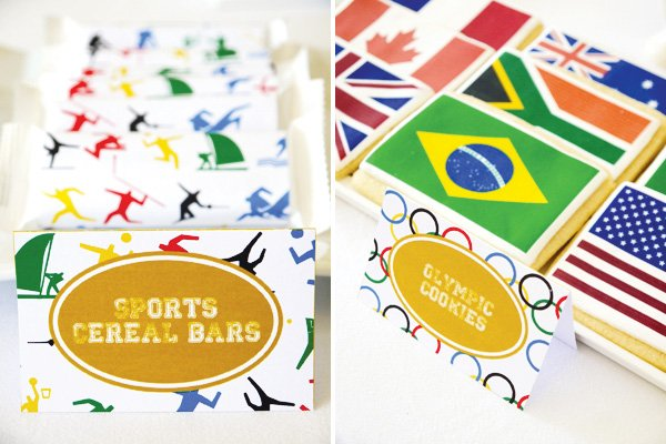 summer olympics party theme food labels