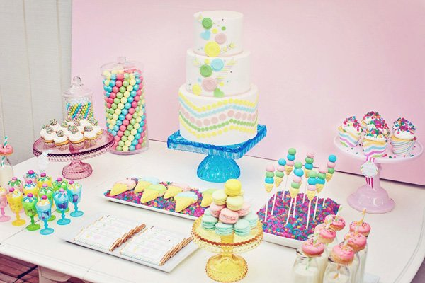 sweet shoppe birthday party dessert table