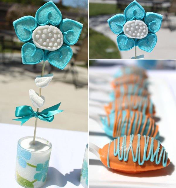 sweets bar designer cookie flowers