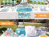blue and orange dessert tables - party inspiration