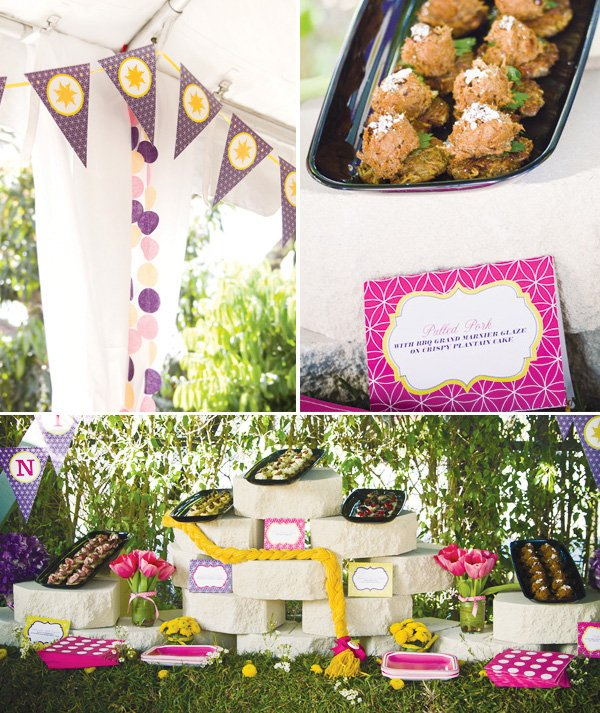 Tangled Birthday Party Food Display