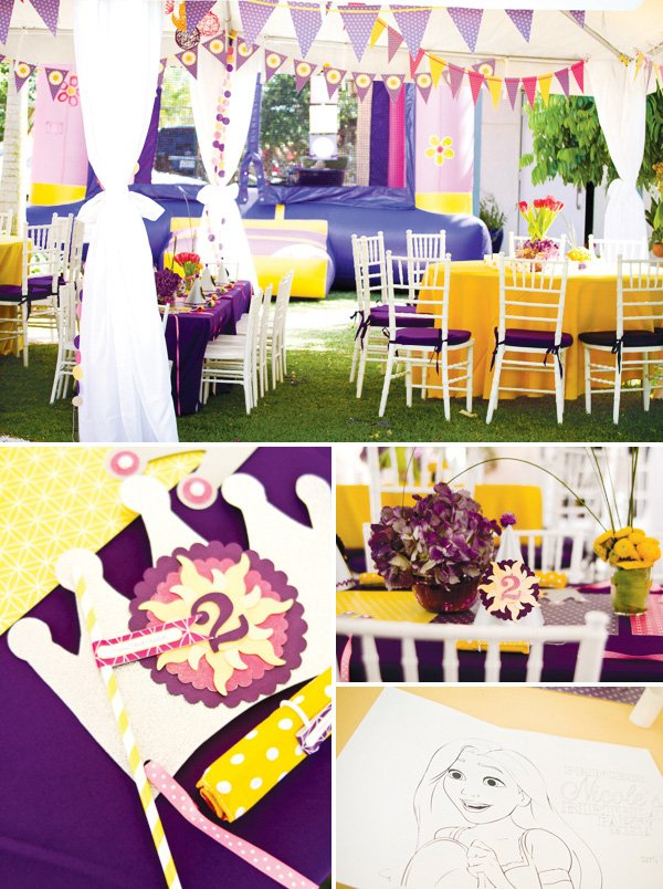 Tangled Birthday Party Decorations Banners And Kids Tables