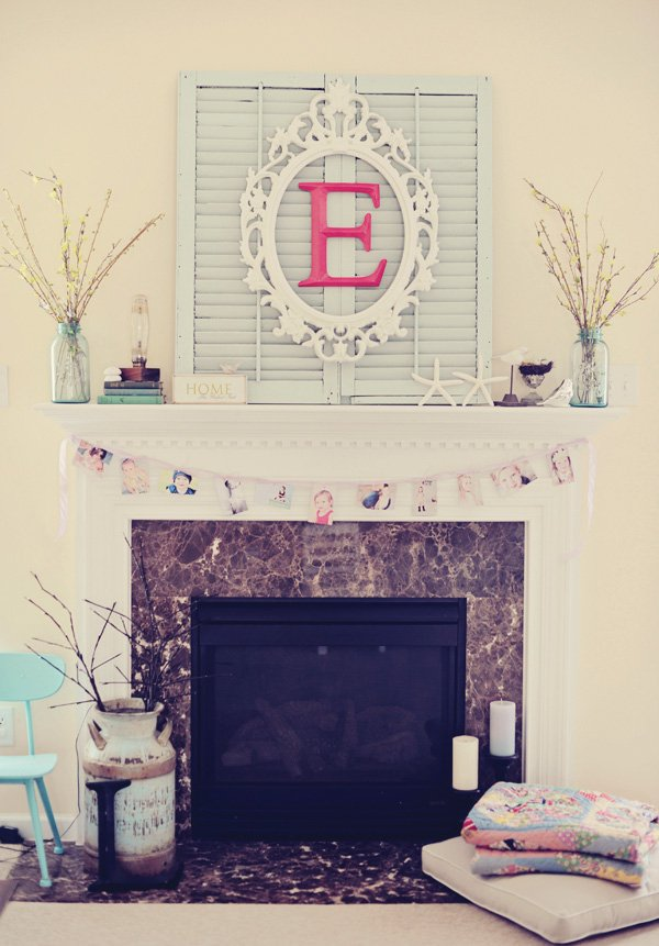 tangled birthday party photo garland and mirror backdrop