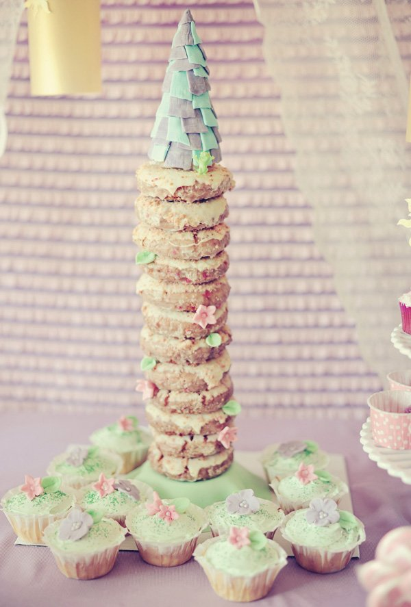 "tangled birthday party donut tower ""cake"""