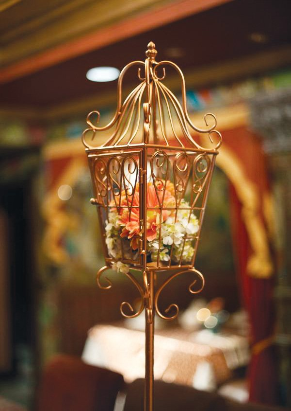 eclectic teacup baby shower birdcage centerpiece