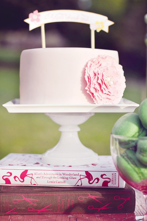 tea party pink cake