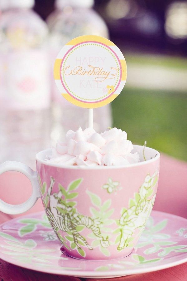 tea party cupcake topper