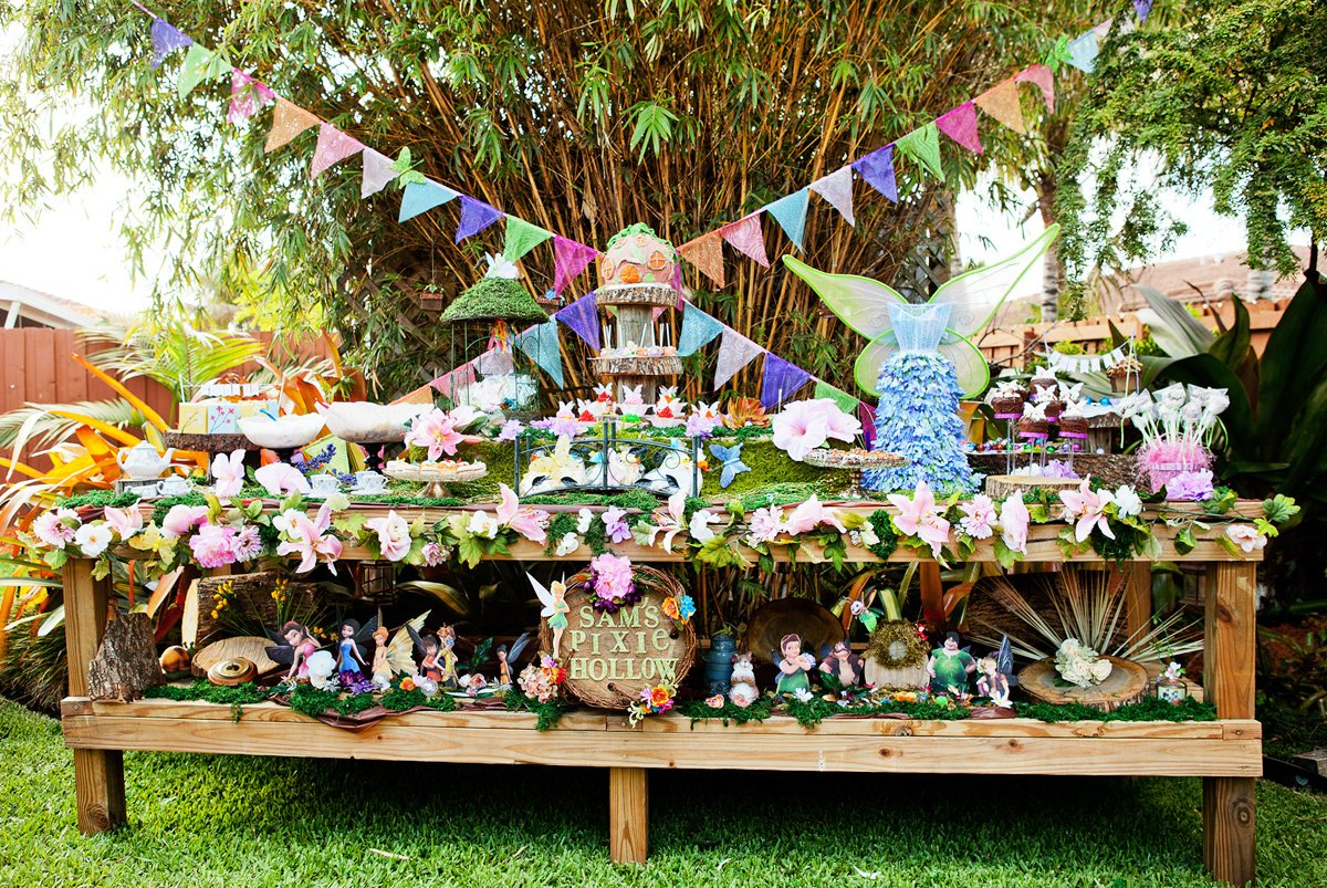magical tinkerbell party backyard pixie hollow hostess with