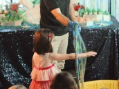 under the sea birthday party bubbles show