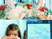 under the sea birthday party invitations and sea horses