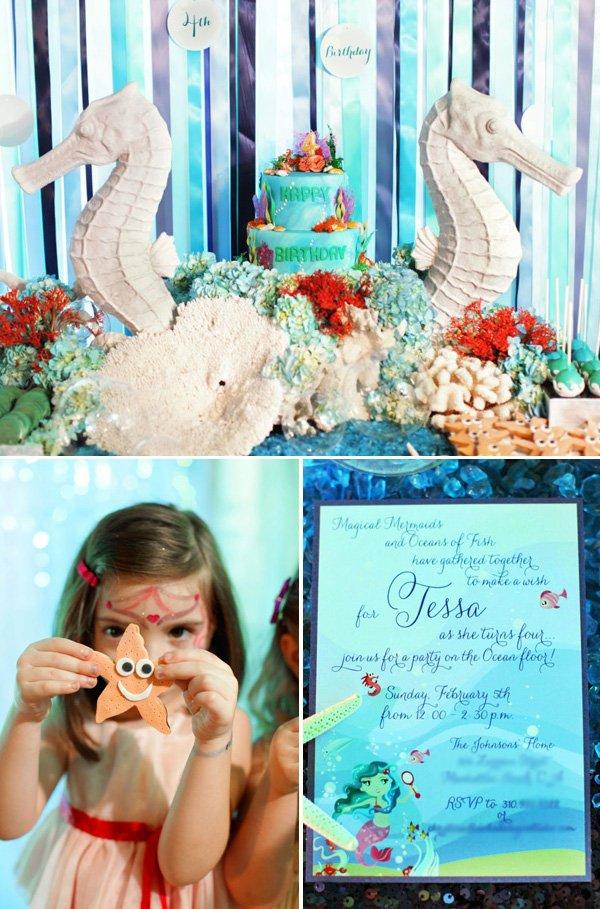 under the sea birthday party invitations and sea horses