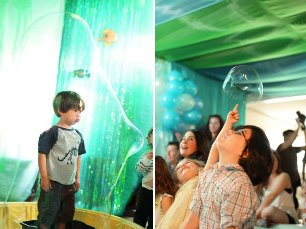 under the sea birthday party giant bubbles