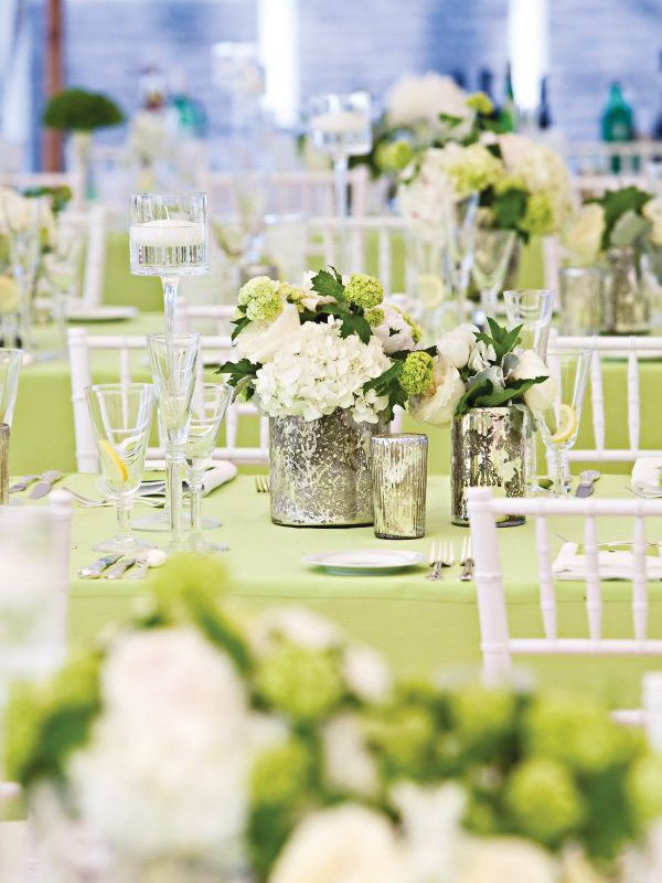 Vintage Green And White Party With Beautiful Florals