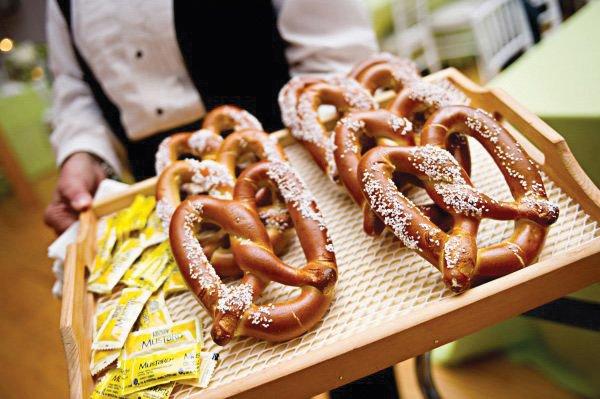 vintage party pretzels