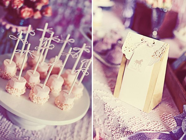 vintage pony party cake pops