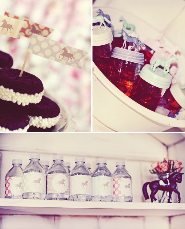 vintage pony party mason jars with horses