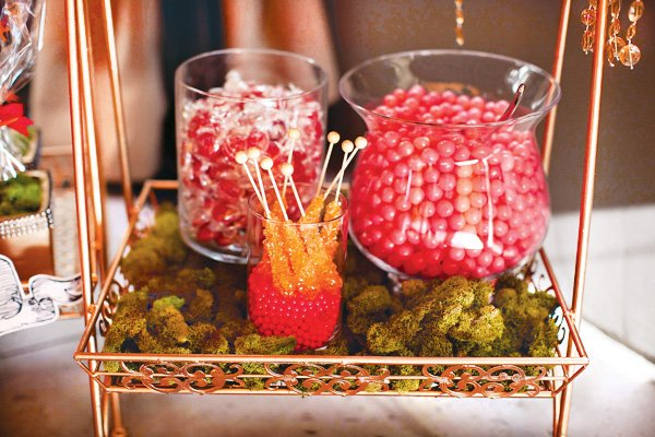 wonderland pink and orange candy
