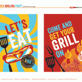 free summer bbq party printables - 4x6 signs