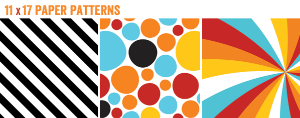 free printables - summer bbq party - patterned paper