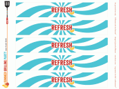 free summer bbq party printables - water bottle labels