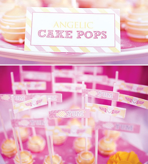angel and heaven cake pops