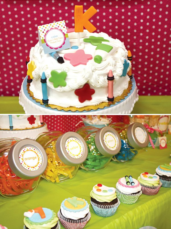 arts and crafts party cake