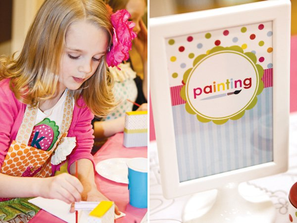 arts and crafts party painting activity