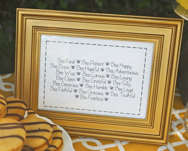 bumble bee party framed advice