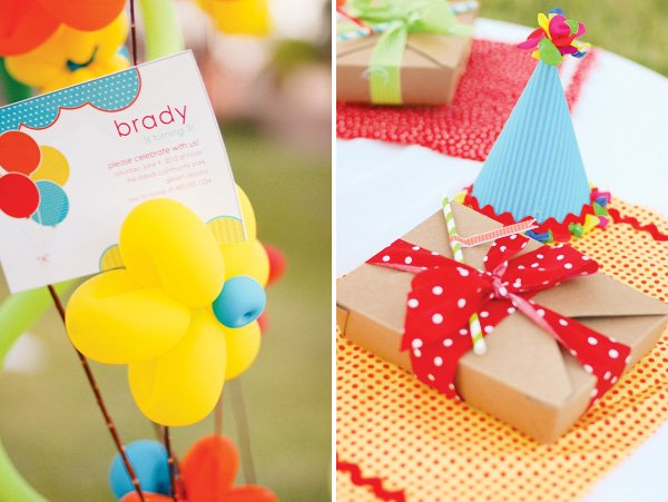 balloon themed party ideas invitation